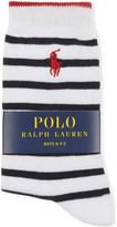 Ralph Lauren Logo striped cotton socks 4-11 years