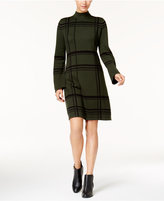 Style&Co. Style & Co Plaid Mock-Neck Sweater Dress, Created for Macy's