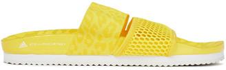 adidas by Stella McCartney Leopard-print Jacquard And Mesh Slides