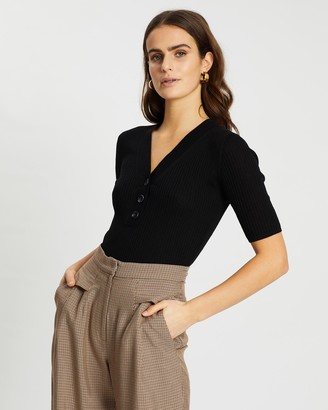 SABA Jac Short Sleeve Henley Knit