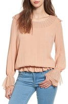For Love & Lemons Women's Evie Ruffle Blouse
