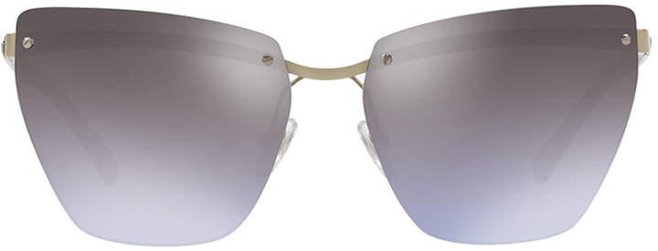 Versace Rimless Medusa-Arm Metal Sunglasses