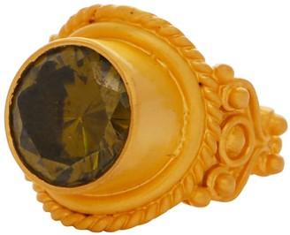 Carousel Jewels Intricate Peridot Cocktail Ring