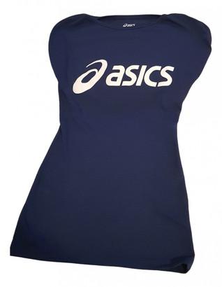 Asics Blue Cotton Tops
