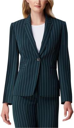 Tahari ASL Petite Striped Single-Button Blazer