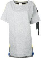 Semi-Couture Semicouture - stripe detail sweatshirt dress - women - Cotton/Polyamide/Spandex/Elastane - 38