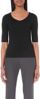 Armani Collezioni Mid-sleeve jersey top