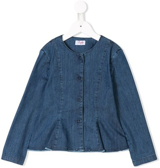 Il Gufo Denim Peplum Jacket