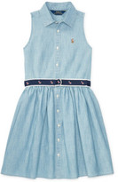 Polo Ralph Lauren Cotton Chambray Shirtdress (8-14 Years)