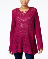Style&Co. Style & Co. Pointelle Tunic Sweater, Only at Macy's