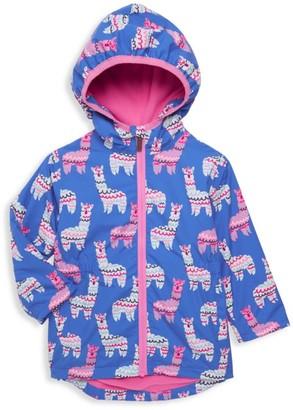 Hatley Little Girl's & Girl's Adorable Alpacas Rain Jacket