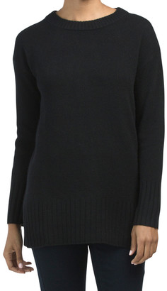 Cashmere High Slit Ribbed Tunic
