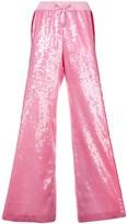 Alberta Ferretti side stripe sequin palazzo trousers