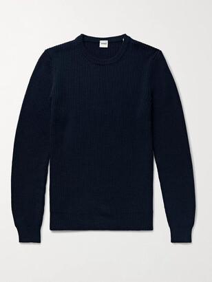 Aspesi Slim-Fit Ribbed Virgin Wool Sweater