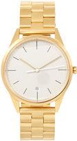 Uniform Wares Satin Gold Link Bracelet C36 Watch