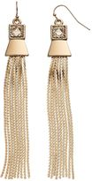 JLO by Jennifer Lopez Square Tassel Drop Earrings