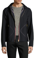 Moncler Wool Zip Front Hooded Jacket