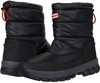 Hunter Insulated Snow Boots Short (Black) Men's Boots