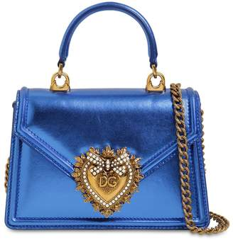 Dolce & Gabbana MINI DEVOTION LAMINATED LEATHER BAG