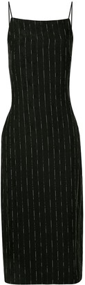 Dion Lee Pinstripe-Print Slip Dress