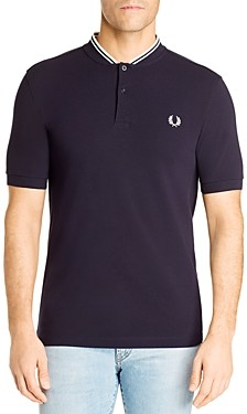 Fred Perry Short-Sleeve Striped-Collar Henley