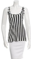 Balmain Sleeveless Striped Top
