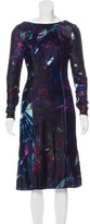Erdem Abstract Print Velvet Dress