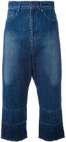 Y's cropped wide-leg jeans