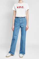 Vanessa Seward Wide-Leg Fringed Jeans