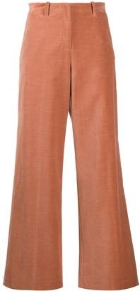 Alysi Velvet Flared Trousers
