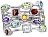 Zales Multi Semi-Precious Gemstone Ring in Sterling Silver - Size 7