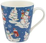 Cath Kidston Snowmen Mug, Blue, 475ml