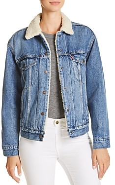 Levi's Sherpa Trimmed Denim Trucker Jacket
