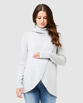 Ripe Maternity Cowl Neck Nursing Knit
