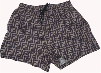 Fendi Brown Polyester Swimwear