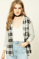 Forever 21 Plaid Flannel Hoodie