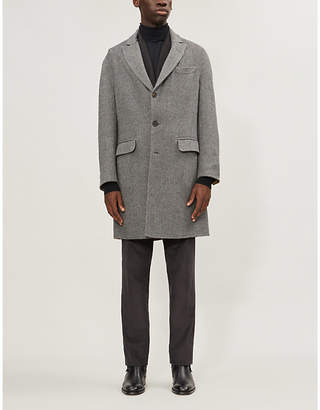 Brunello Cucinelli Single-breasted wool-blend twill coat