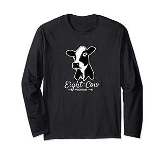 Eight Cow Woman - Novelty Long Sleeve T-Shirt