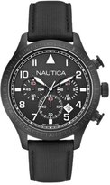 Nautica A18685G 44mm Stainless Steel Case Black Plastic Mineral Men's Watch