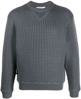 AFFIX waffle-knit crew-neck jumper