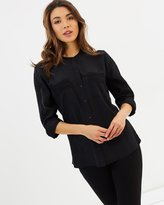 GUESS Aden Silky Lace Mix Shirt