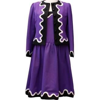 Saint Laurent Purple Cotton Dresses