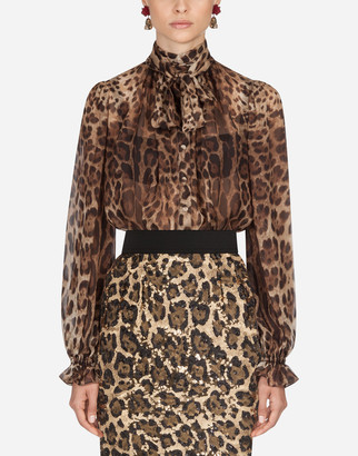 Dolce & Gabbana Printed Chiffon Shirt
