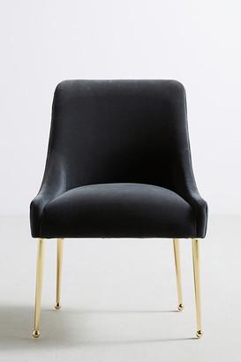 Anthropologie Velvet Elowen Chair By in Grey