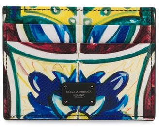 Dolce & Gabbana Maiolica Print Cardholder