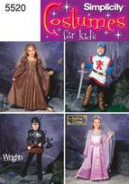 Simplicity Creative Group Patterns Simplicity Sewing Pattern 5520 Child Costumes