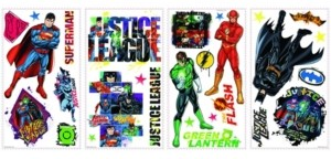 York Wall Coverings York Wallcoverings Justice League Peel and Stick Wall Decals