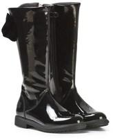 Lelli Kelly Kids Diane Tall Black Patent Bow Boots