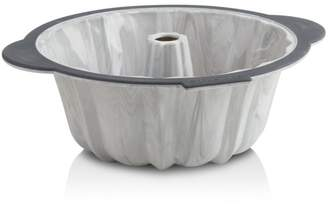 Trudeau Structured Silicone 10-Cup Fluted Marble Cake Pan