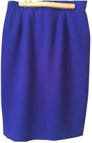 Jean Louis Scherrer Jean-louis Scherrer Blue Wool Skirt for Women
